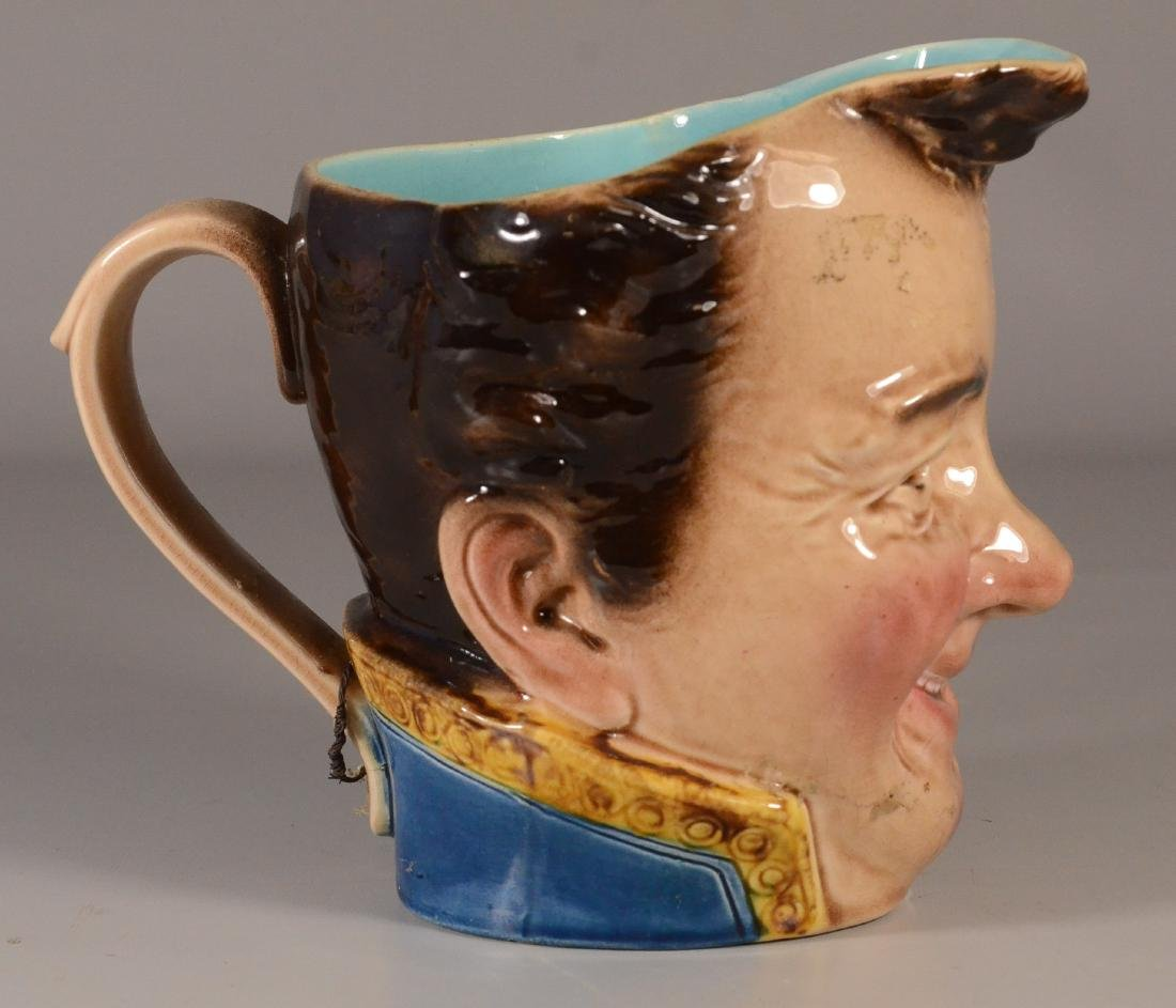 French majolica 'Toby' jug, Sarreguemines, early 20th C - 3