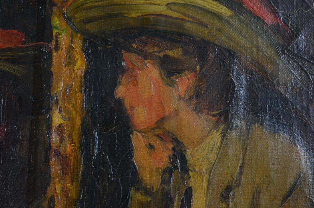 "Everett Lloyd Bryant, oil painting ""Parisian Cafe"" - 5"
