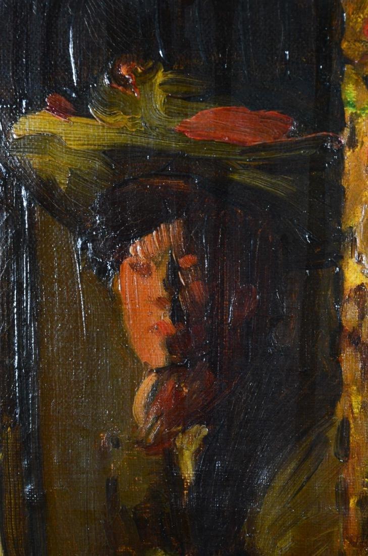 "Everett Lloyd Bryant, oil painting ""Parisian Cafe"" - 6"