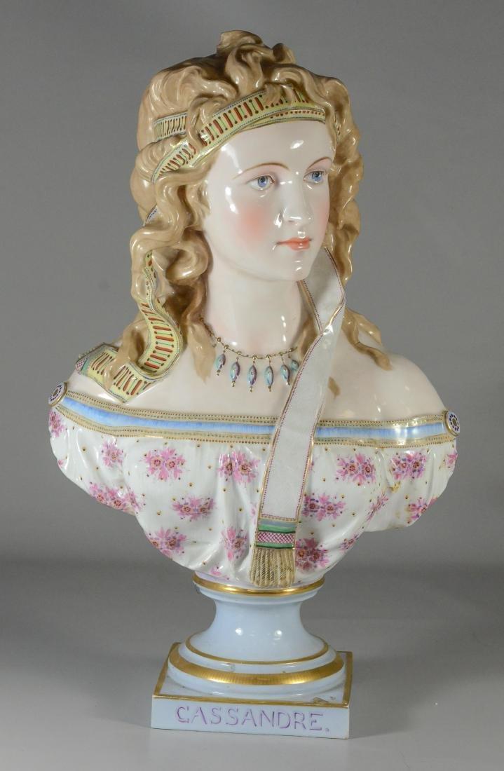 """Ph Le Libon Paris porcelain bust of """"Cassandre"""""""
