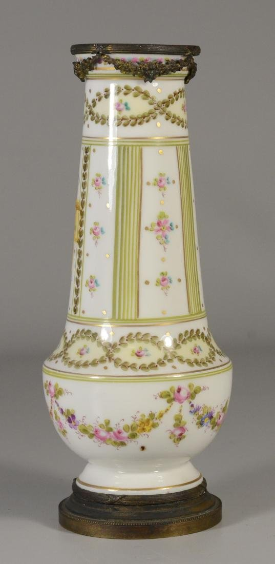 Sevres-type ormolu mounted vase, late 19th C