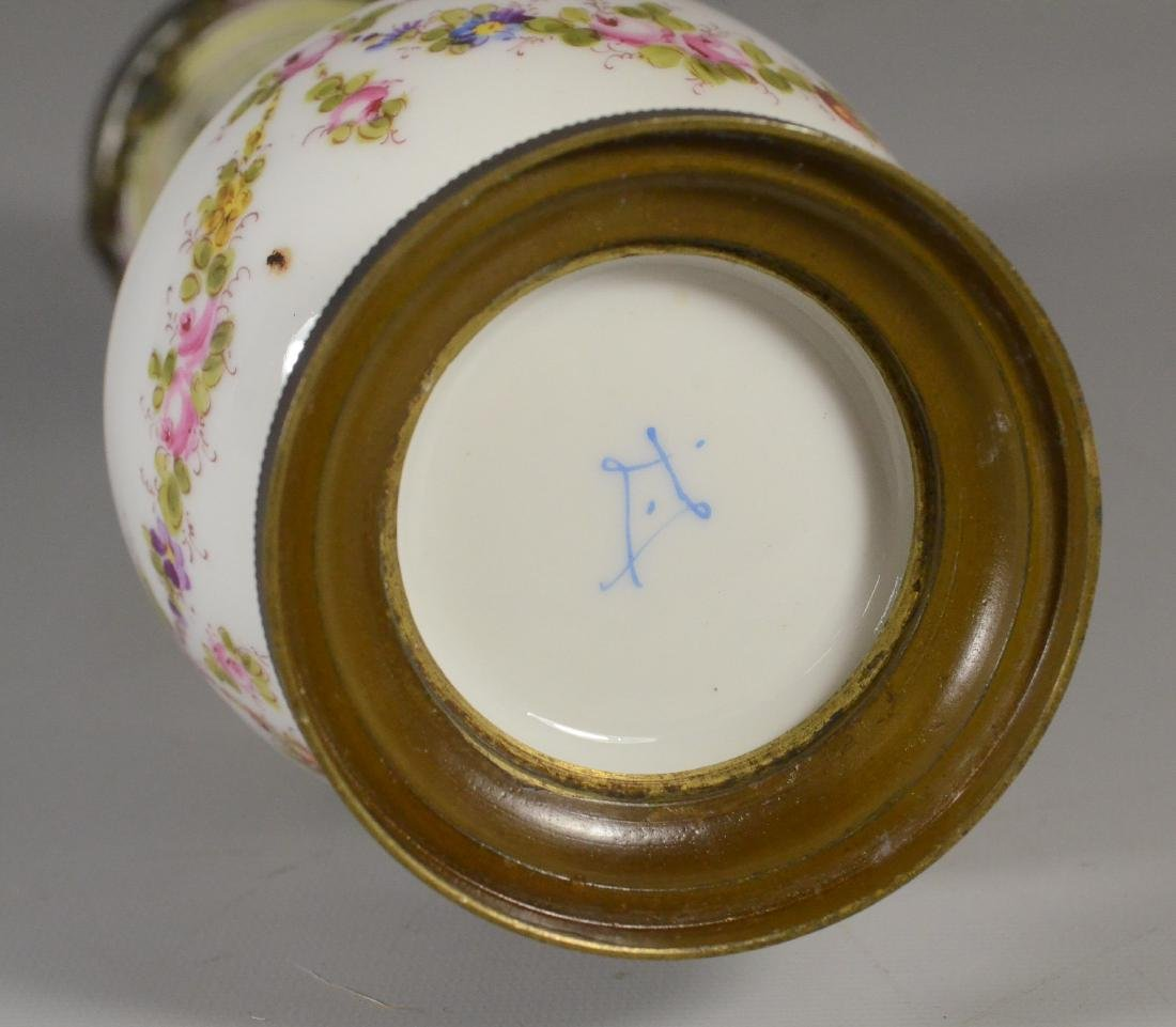 Sevres-type ormolu mounted vase, late 19th C - 3