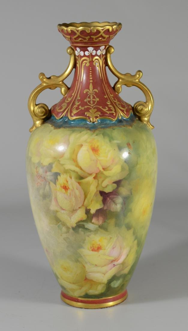 Royal Bonn gilt & rose decorated vase
