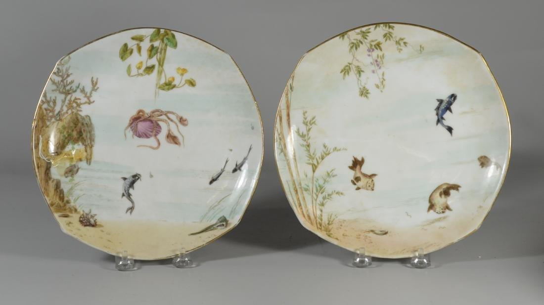 (8) Tresseman & Vogt, Limoges porcelain fish plates - 4