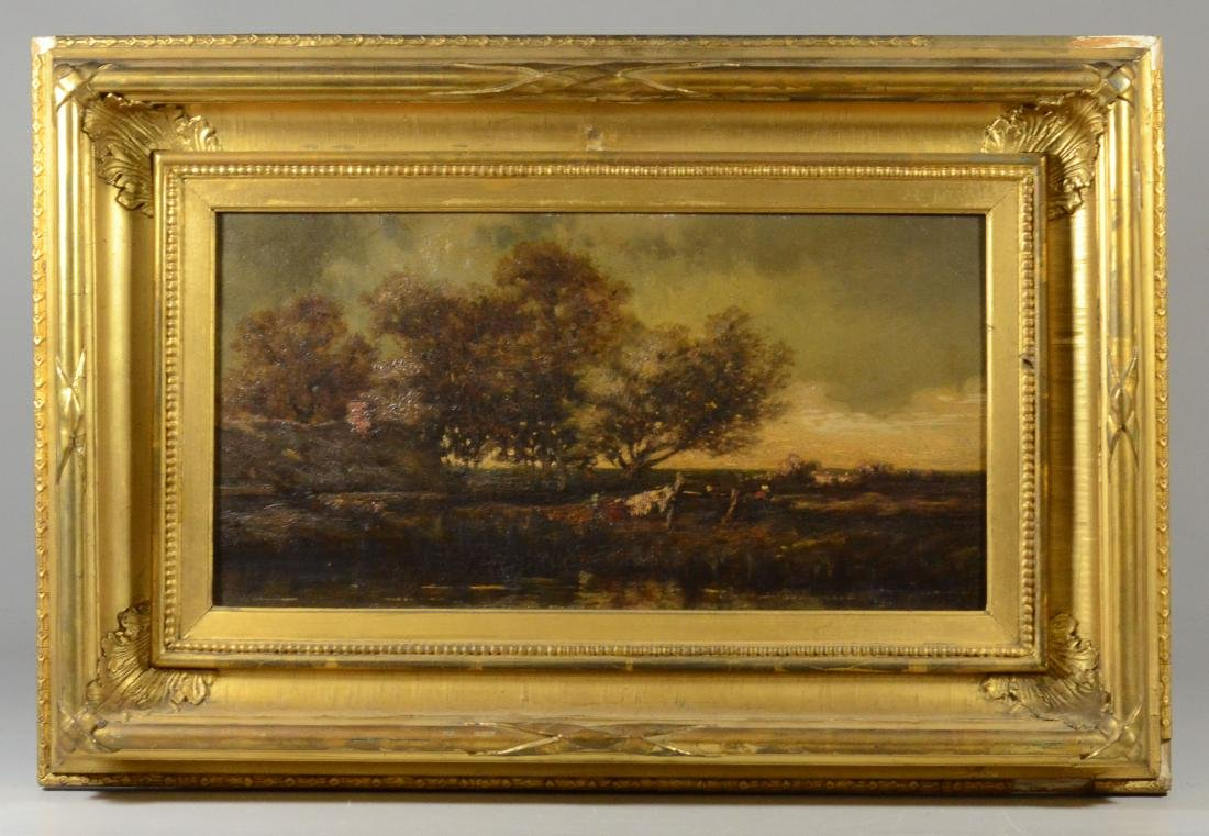 19th C Continental school landscape painting, unsigned, - 3