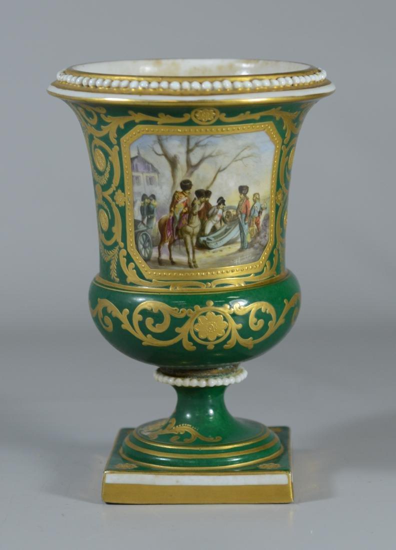 Sevres spill vase, Napoleonic decoration