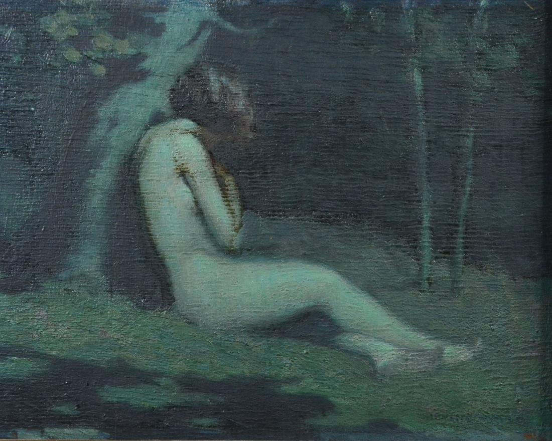 Irving Ward, painting of a female nude