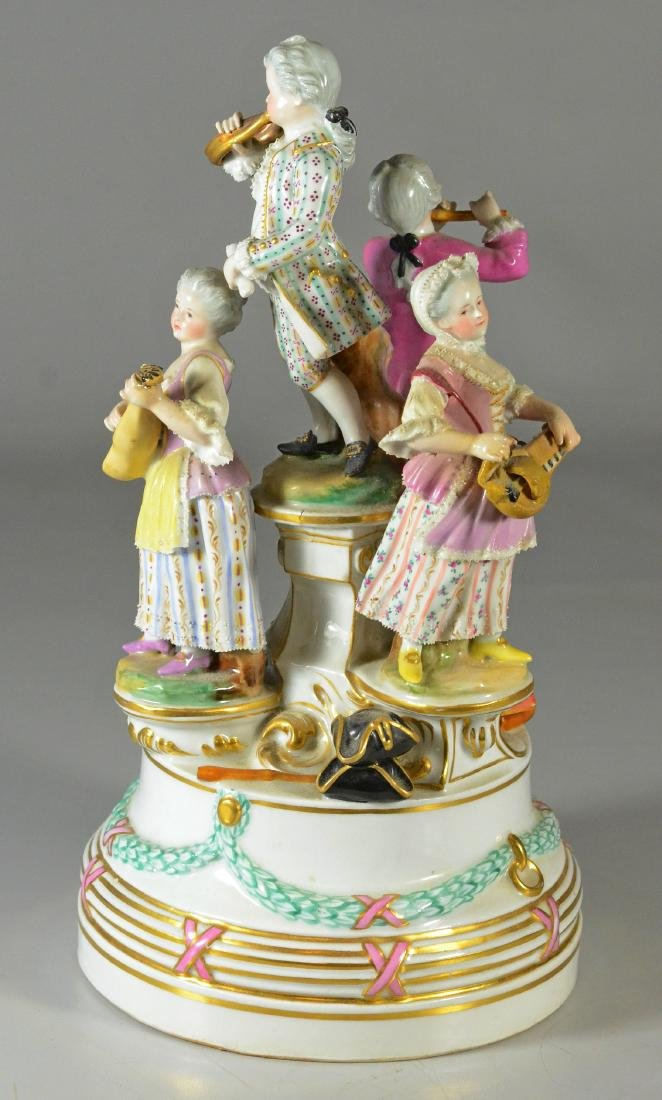 Royal Vienna-type group, of a quartet, c 1900