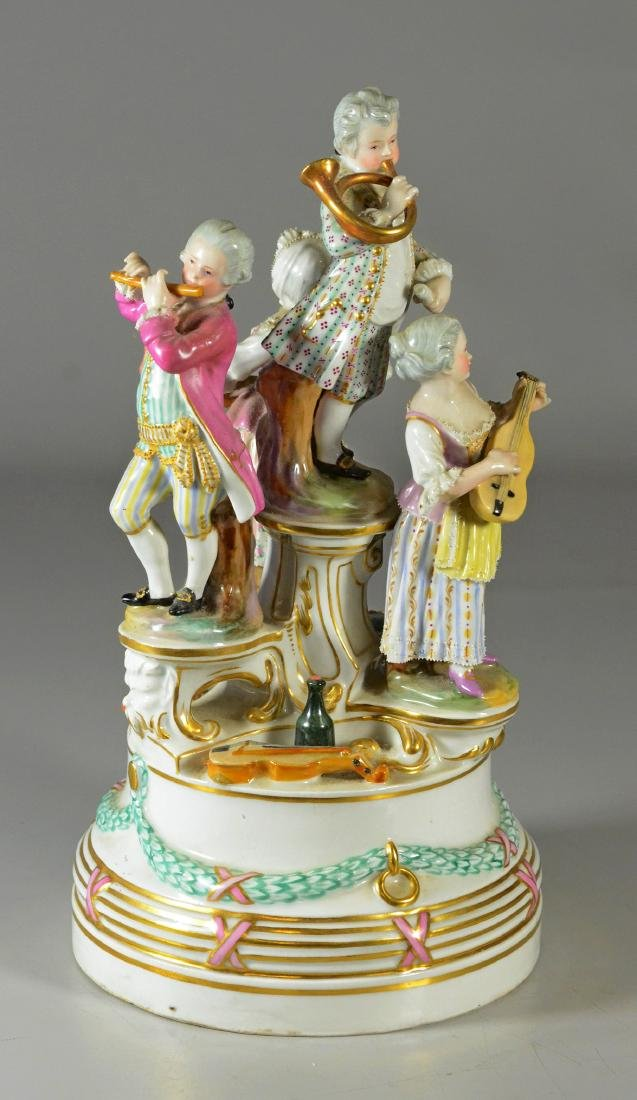 Royal Vienna-type group, of a quartet, c 1900 - 2