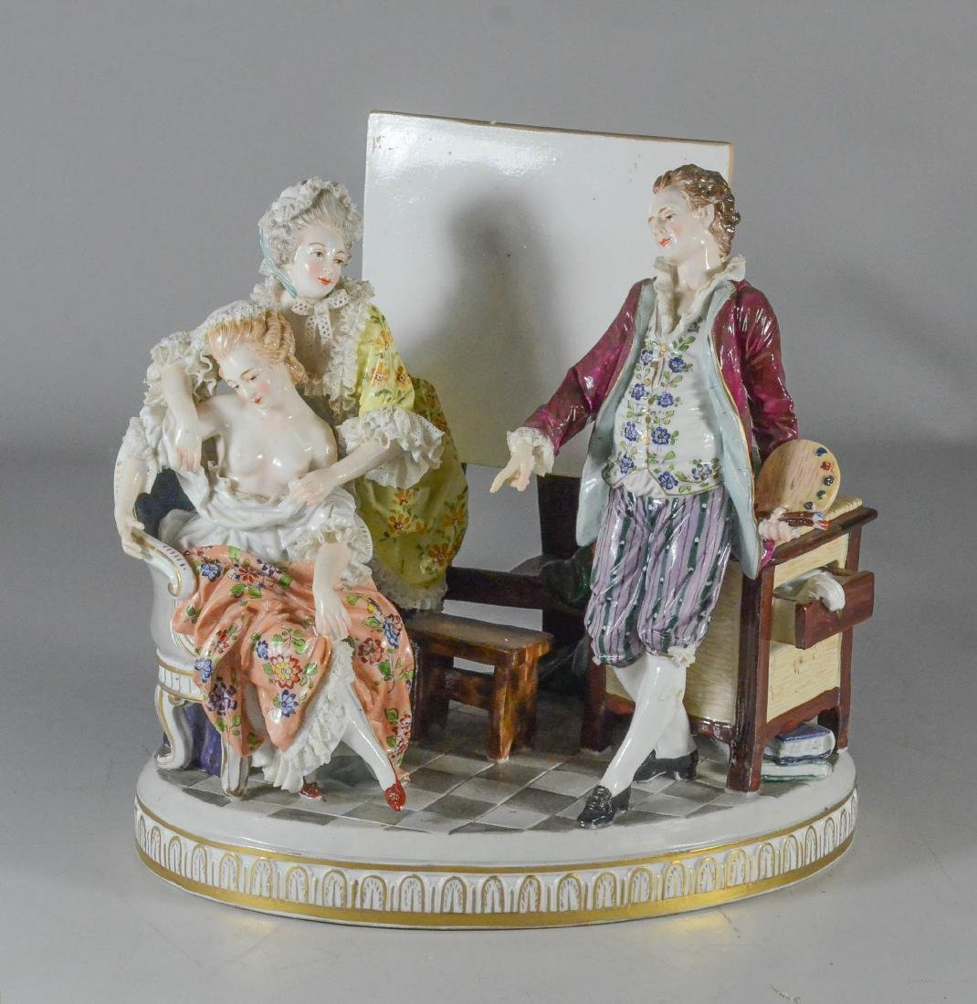 "Royal Vienna-type porcelain allegorical group of ""Art"""