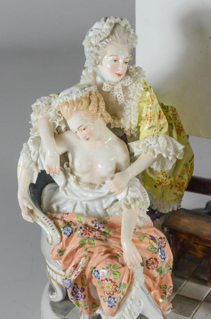 "Royal Vienna-type porcelain allegorical group of ""Art"" - 2"