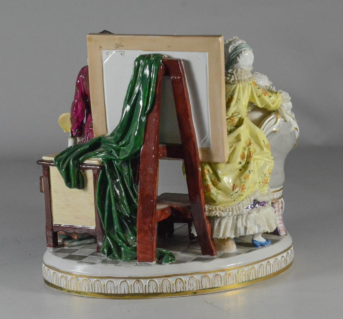 "Royal Vienna-type porcelain allegorical group of ""Art"" - 3"