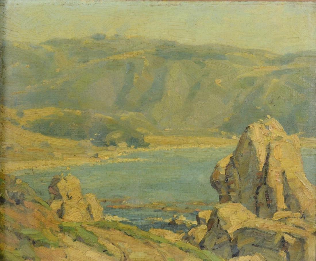 Ivan Summers, coastal seascape oil on canvas