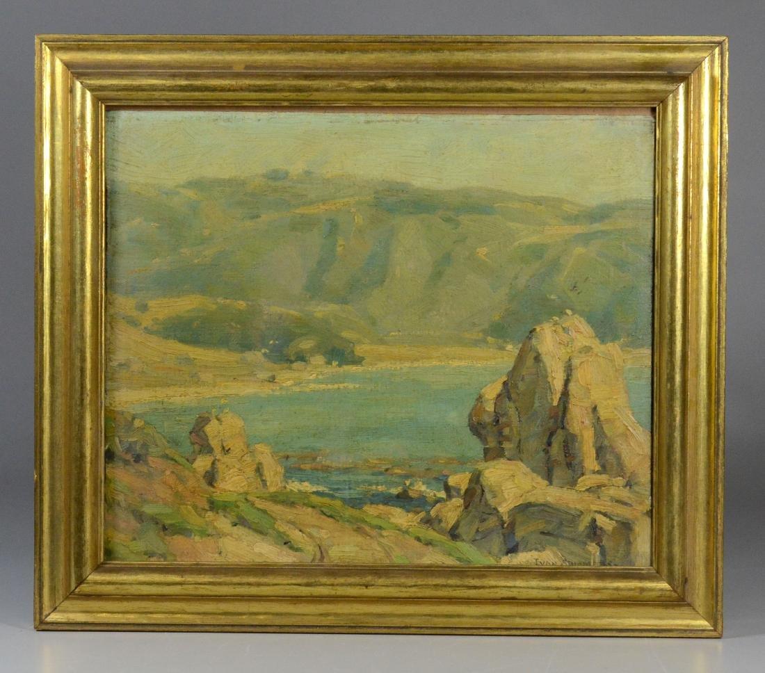Ivan Summers, coastal seascape oil on canvas - 2
