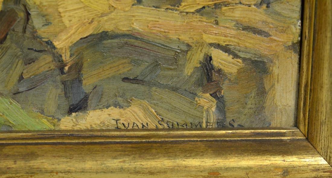 Ivan Summers, coastal seascape oil on canvas - 3