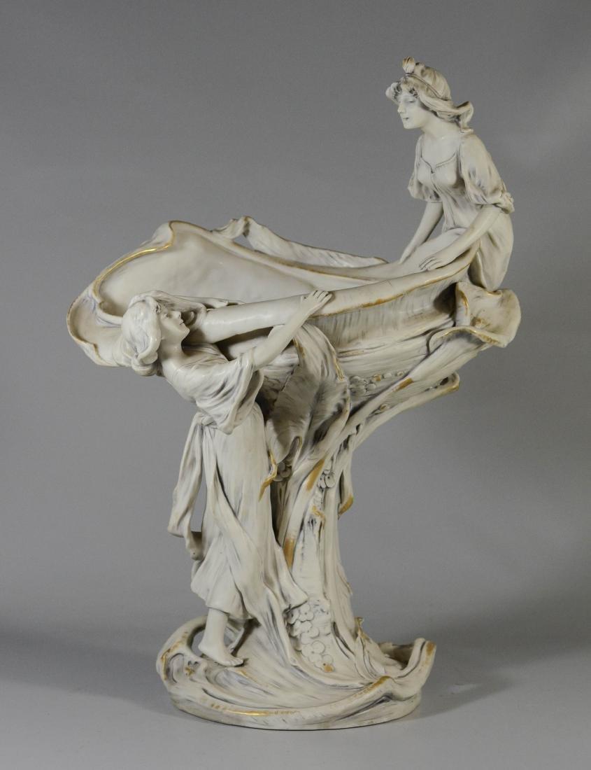 Royal Dux porcelain art nouveau compote