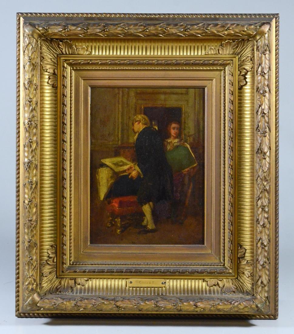 Victor Joseph Chavet, oil on wood panel