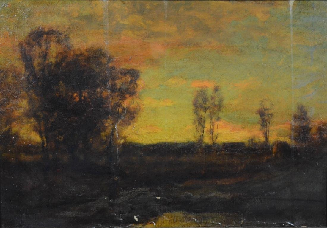 Charles Appel,  tonalist landscape oil on canvas