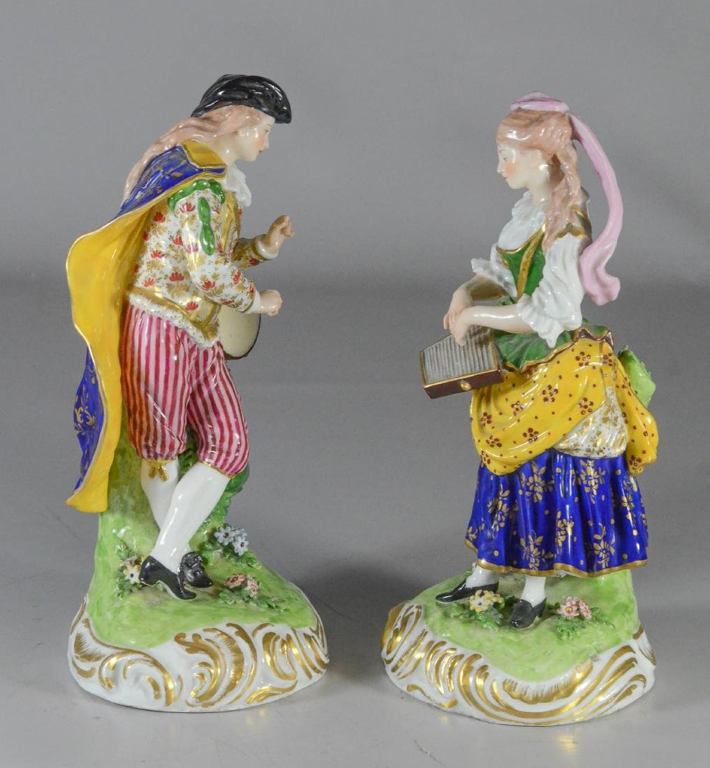 Pair of Derby figures of musicians, circa 1780-1784, - 2