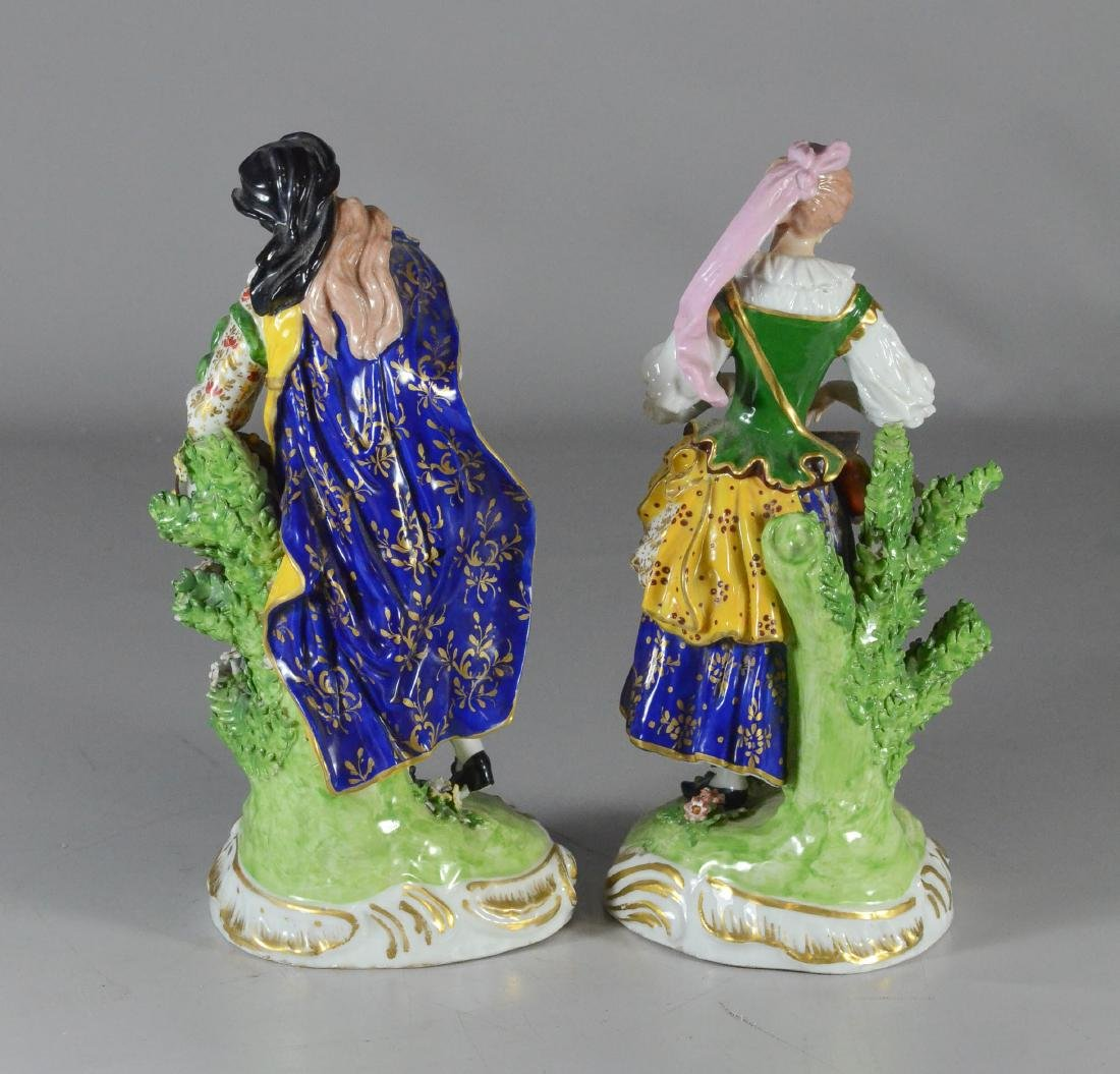 Pair of Derby figures of musicians, circa 1780-1784, - 4