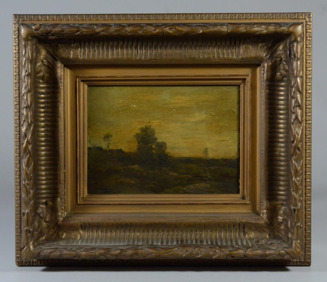 19th c European landscape painting, illegibly signed - 2