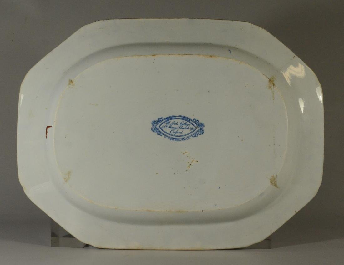 J&W Ridgway Staffordshire blue transfer platter - 10