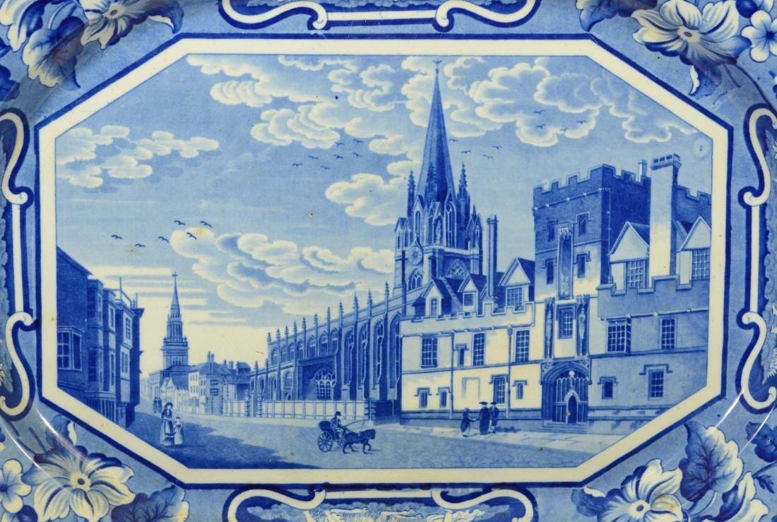 J&W Ridgway Staffordshire blue transfer platter - 2