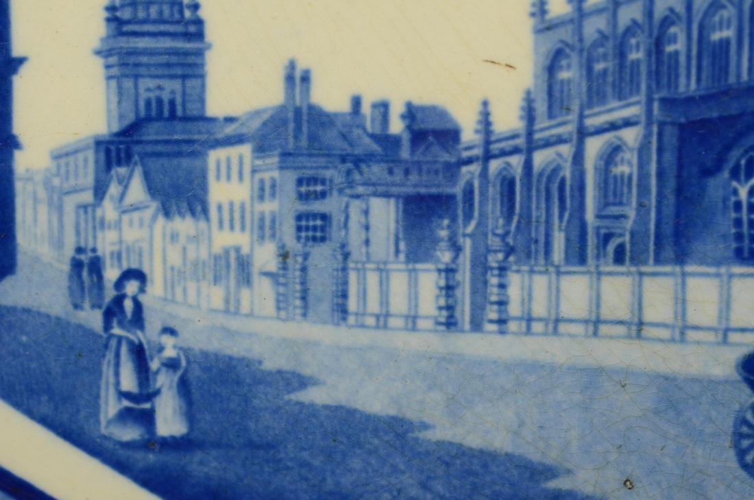 J&W Ridgway Staffordshire blue transfer platter - 3