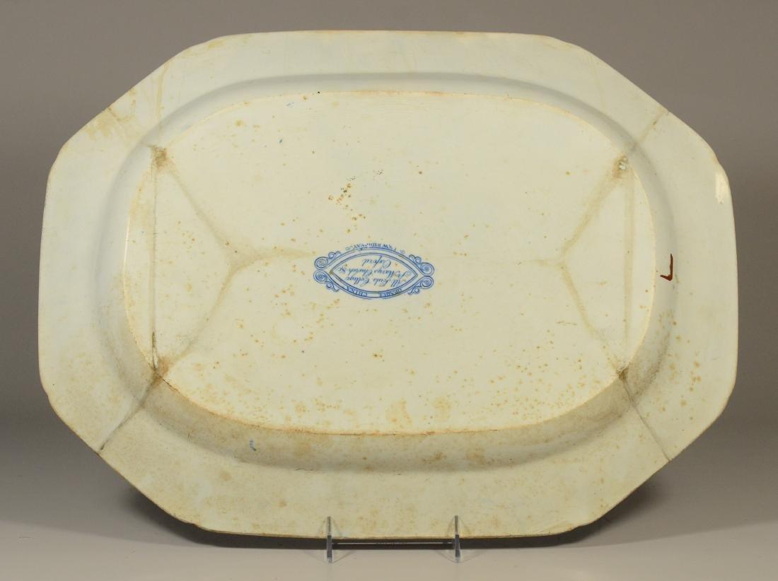 J&W Ridgway Staffordshire blue transfer platter - 4