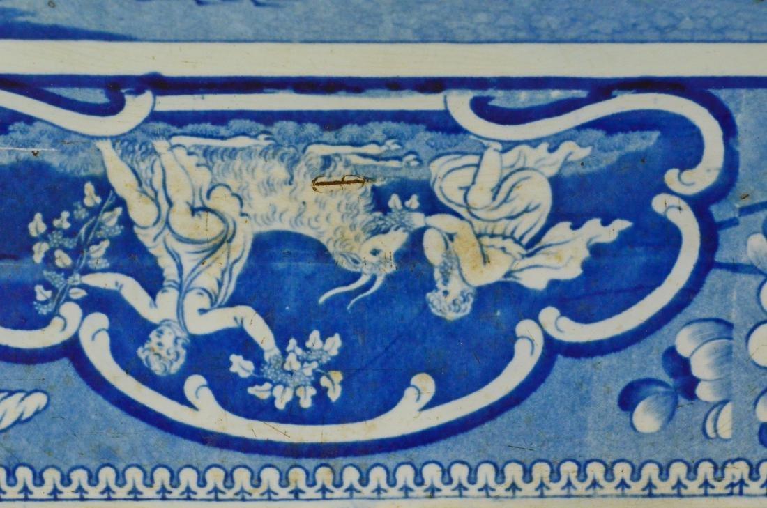 J&W Ridgway Staffordshire blue transfer platter - 6