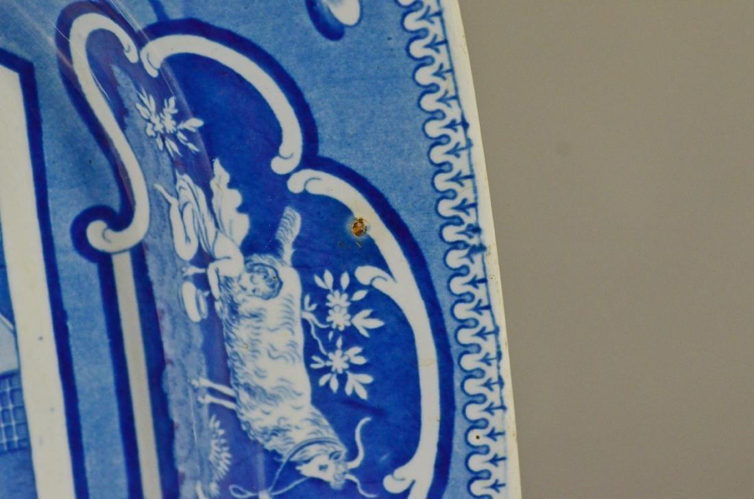 J&W Ridgway Staffordshire blue transfer platter - 7