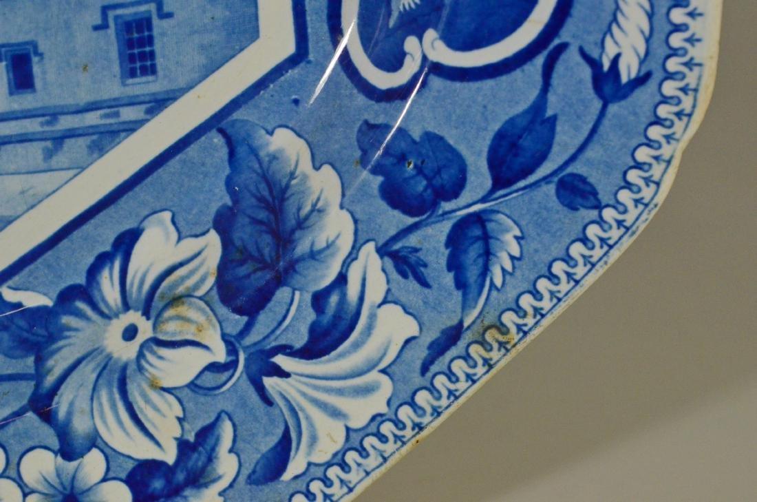 J&W Ridgway Staffordshire blue transfer platter - 8