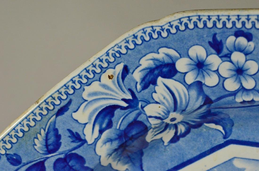 J&W Ridgway Staffordshire blue transfer platter - 9
