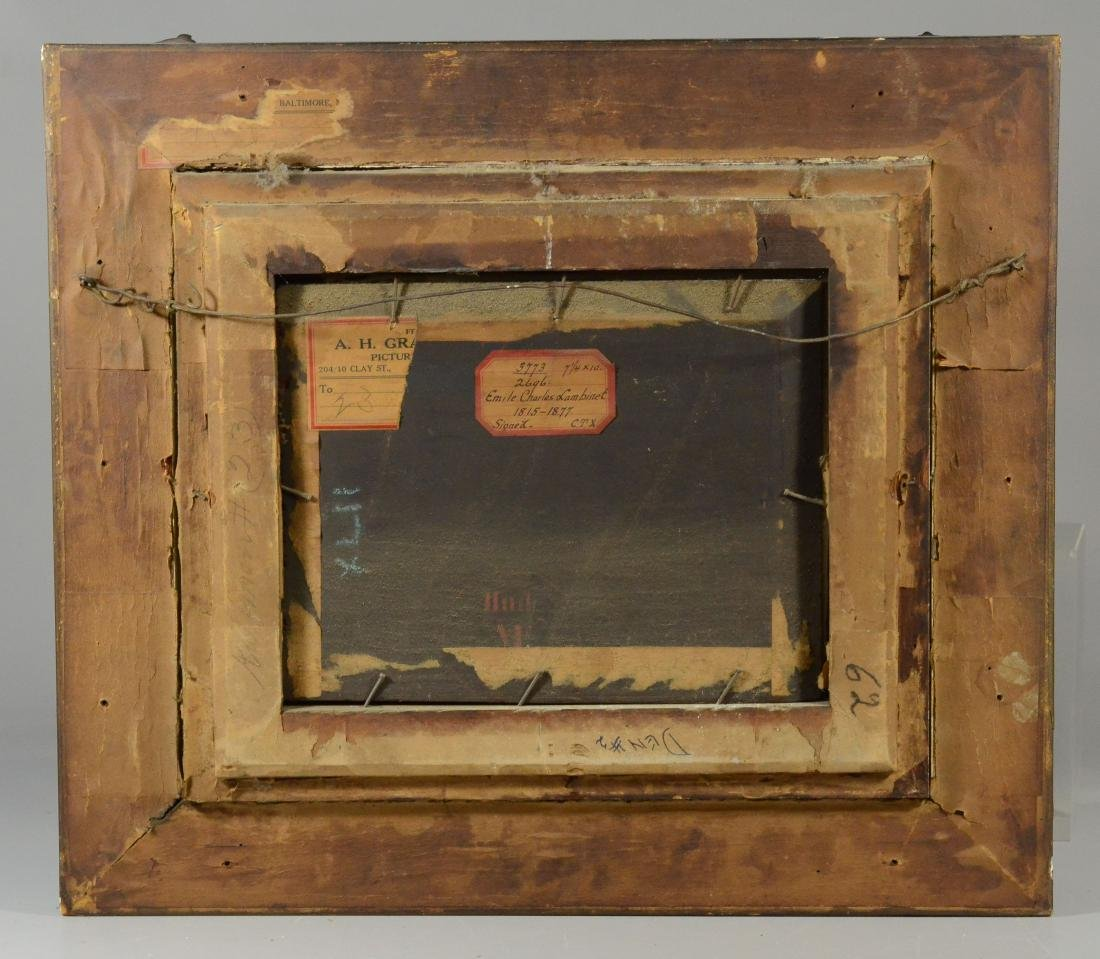 Emile Charles Lambinet, oil on wood panel landscape - 5