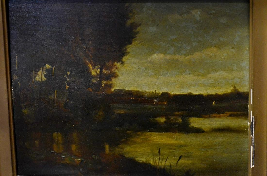Emile Charles Lambinet, oil on wood panel landscape - 8