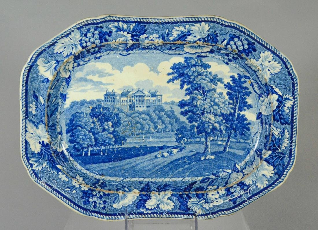(5) pcs blue Transfer Staffordshire - 2
