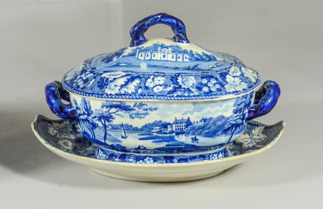 (5) pcs blue Transfer Staffordshire - 4
