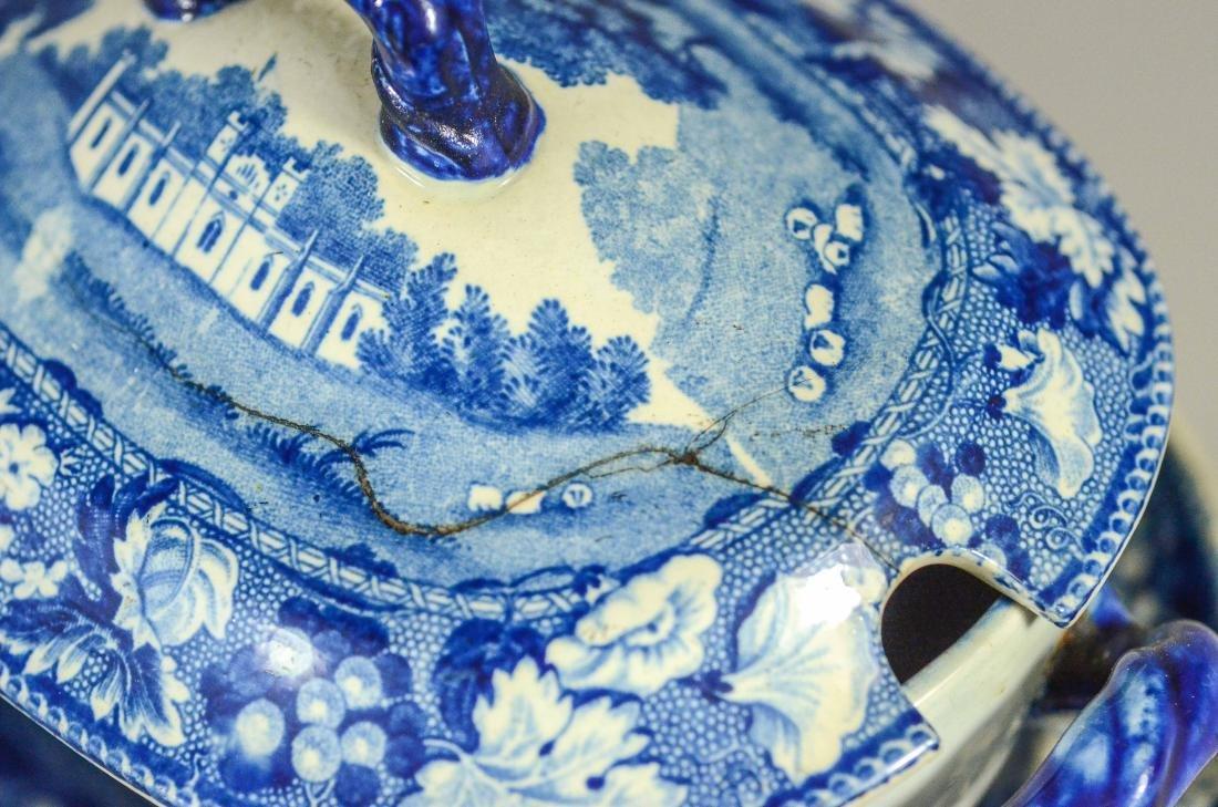 (5) pcs blue Transfer Staffordshire - 5
