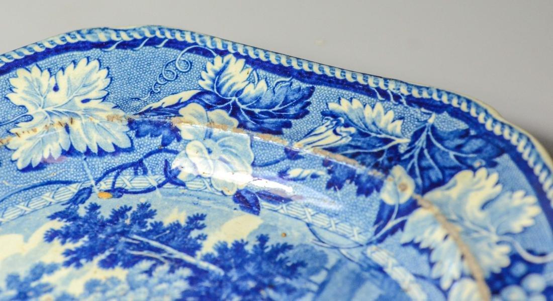 (5) pcs blue Transfer Staffordshire - 7