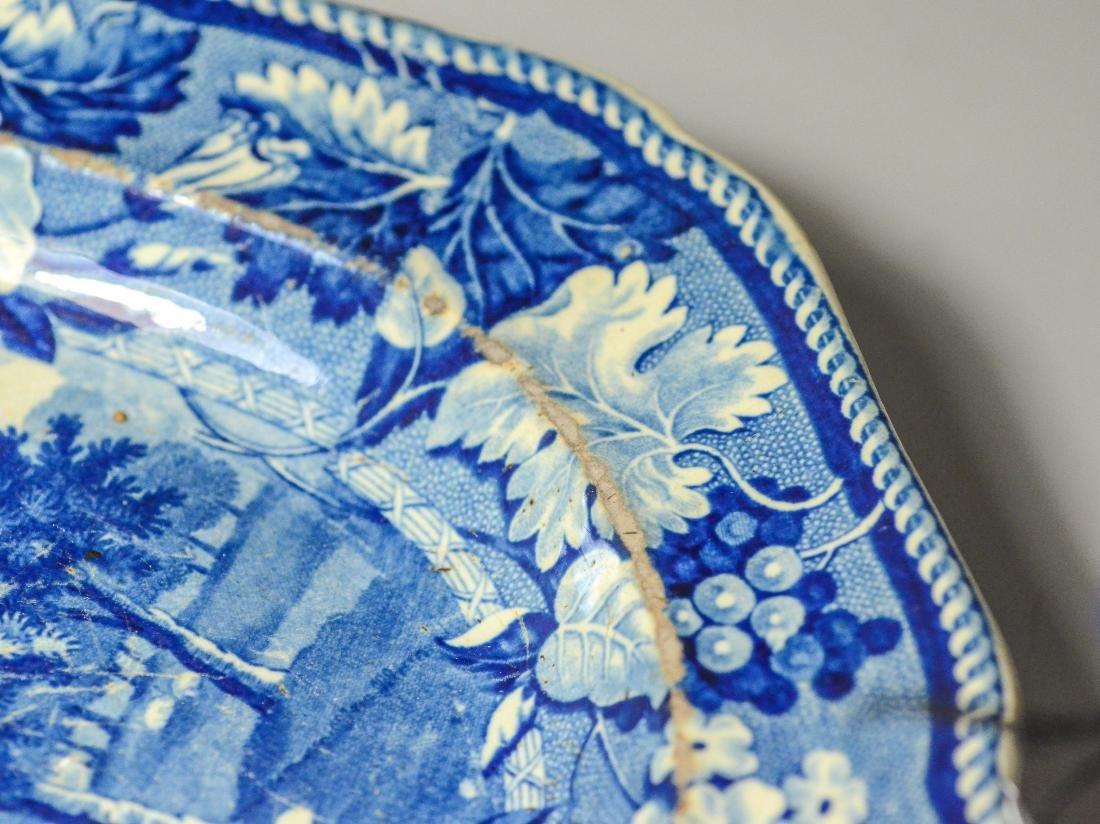 (5) pcs blue Transfer Staffordshire - 8