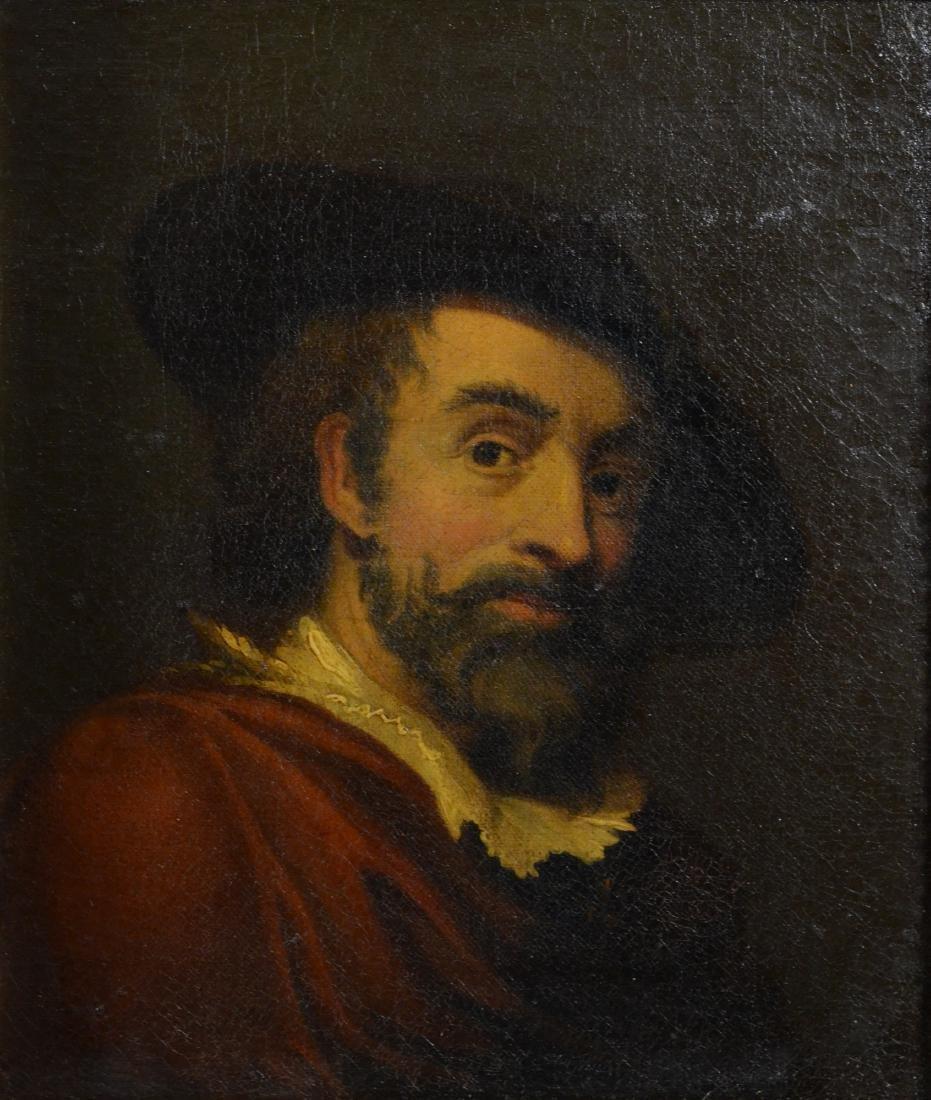 19th C Continental portrait painting