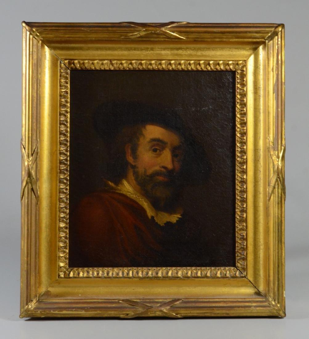 19th C Continental portrait painting - 2