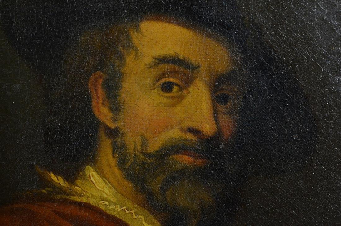 19th C Continental portrait painting - 3