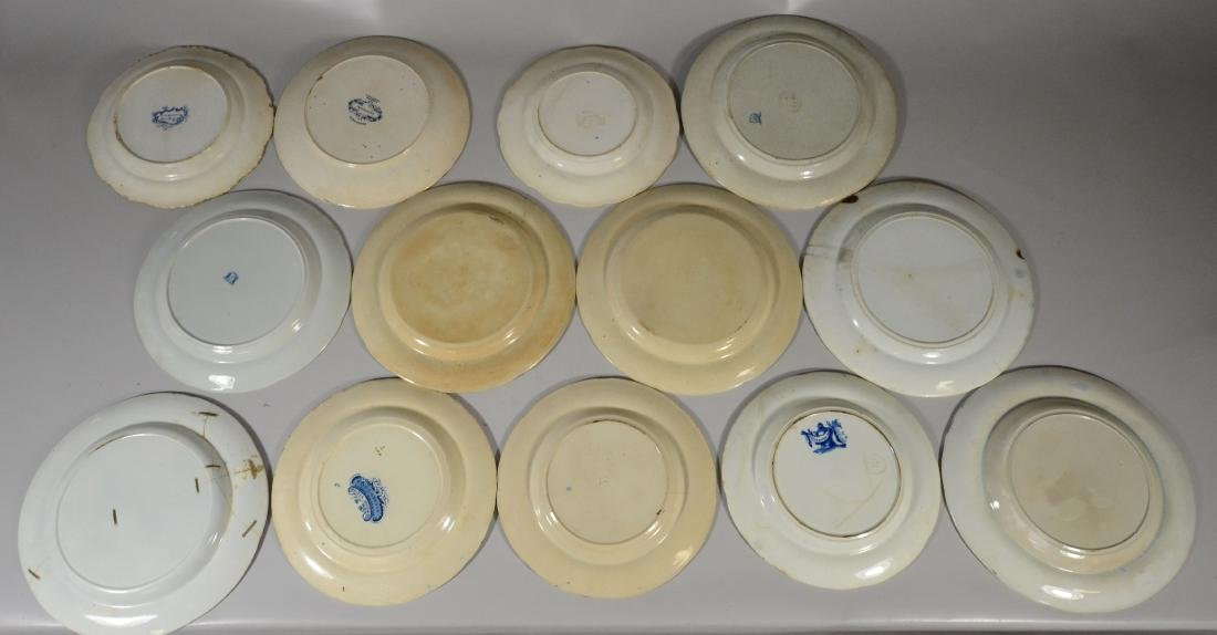 (13) blue transfer Staffordshire plates, Asian scene - 6