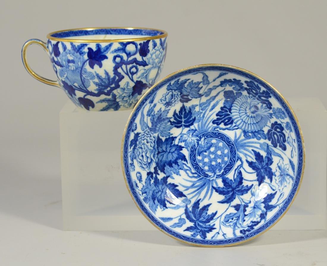 9 pcs miniature blue transfer Staffordshire - 2