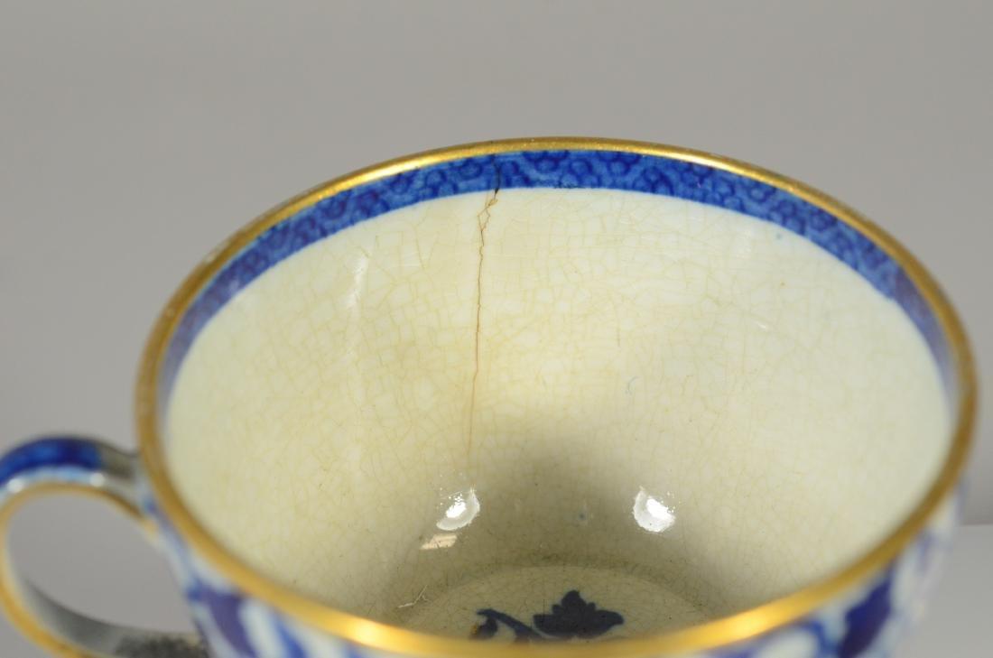 9 pcs miniature blue transfer Staffordshire - 3