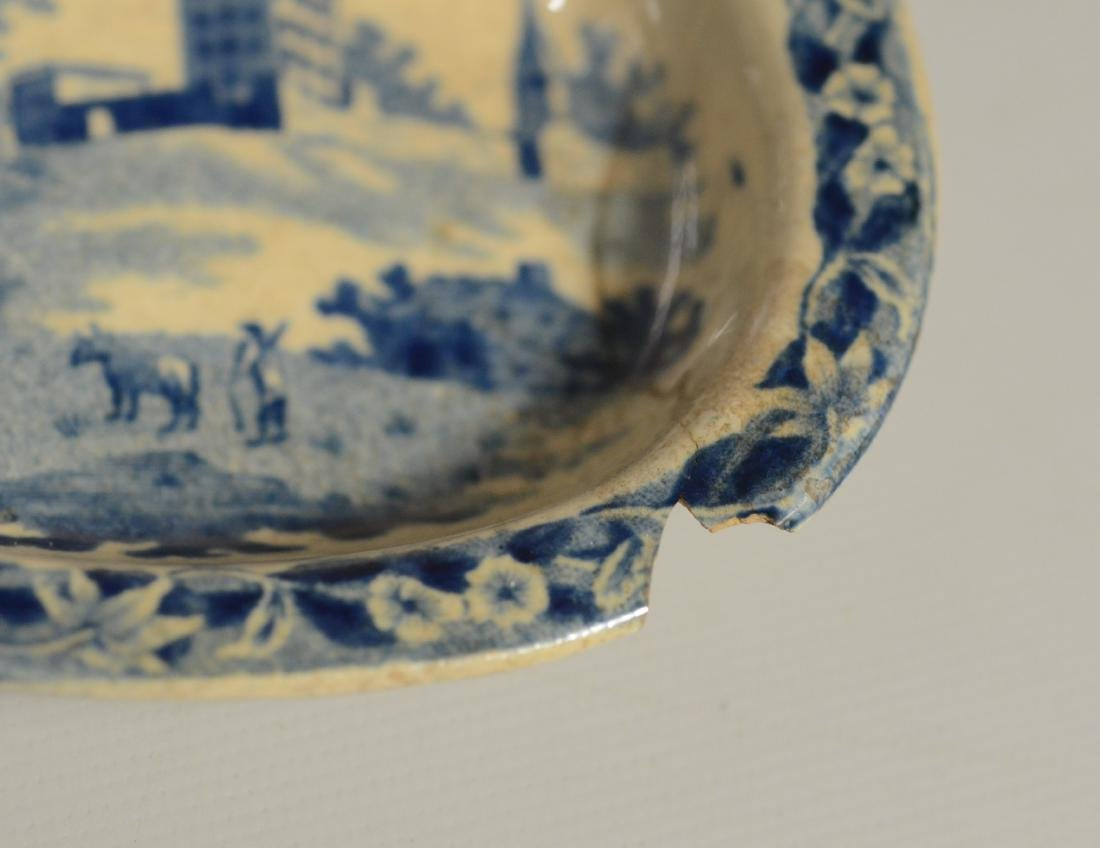 9 pcs miniature blue transfer Staffordshire - 9
