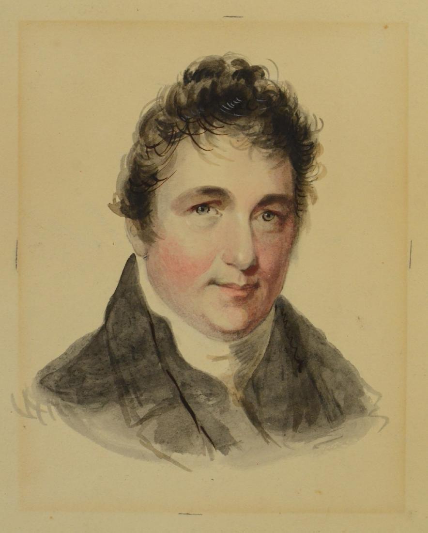 Fielding Lucas, watercolor portrait of gentleman