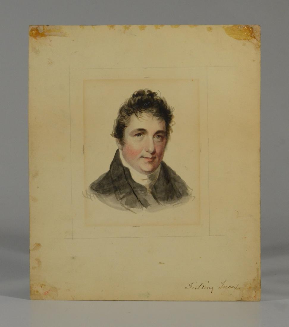 Fielding Lucas, watercolor portrait of gentleman - 2