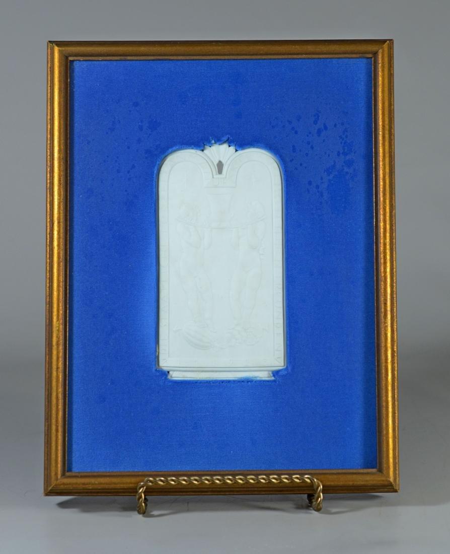 Meissen white bisque commemorative plaque